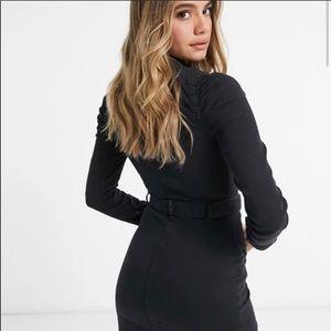 ASOS Parisian denim shirt dress with western belt